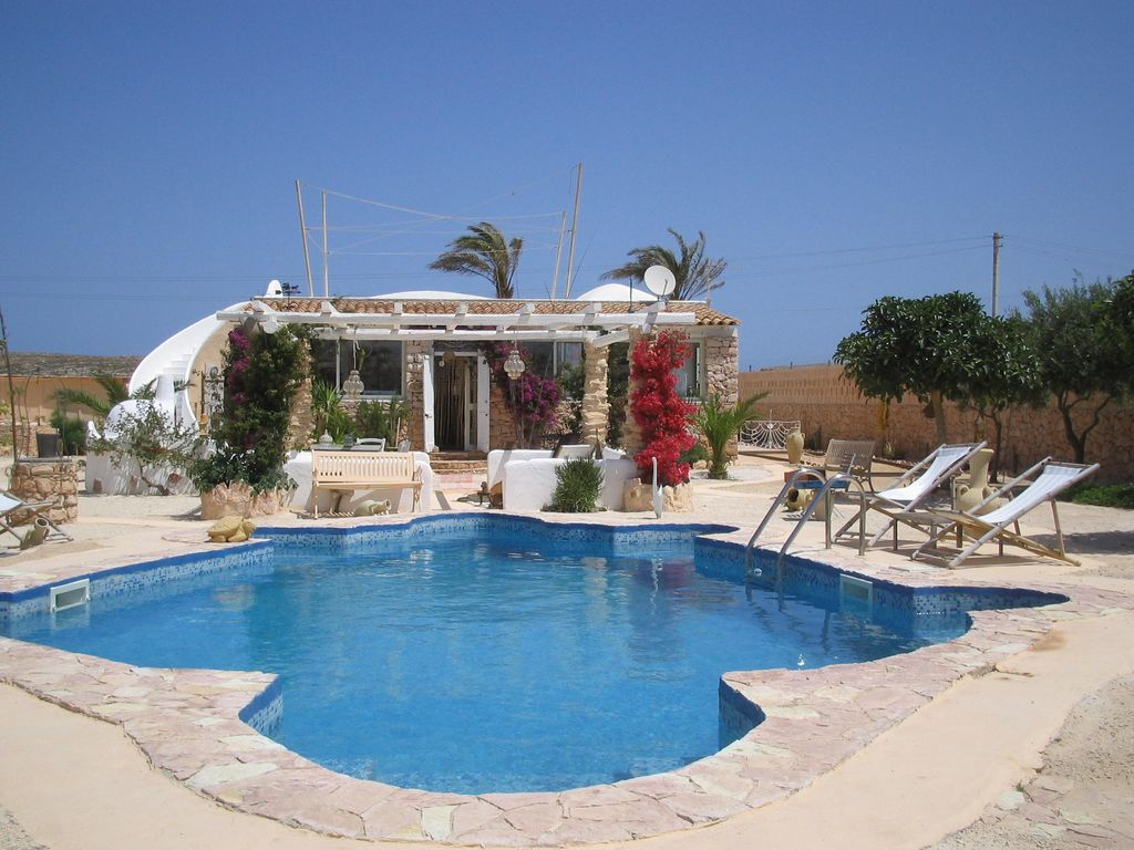 Villa private pool sea Lampedusa large garden olive ... - 1002998