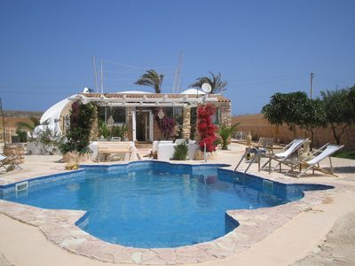 Photo for Villa private pool sea Lampedusa large garden olive trees tropical plants