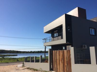 Photo for Beautiful house in front of the small Lagoon and next to the Beach of Novo Campeche!