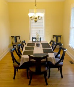 Spacious dining Room that overlooks the porch