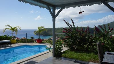 Photo for Villa with pool with stunning views of the Caribbean Sea