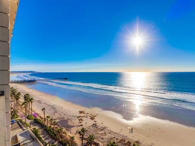 Photo for Oceanfront Highrise | Incredible Views | Pool & Hot tub | Walk to the Beach