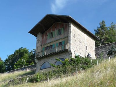 Photo for Beautiful chalet of 120 m² with stunning views and heated indoor pool