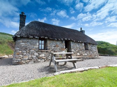 Photo for Stunning Traditional Thatched Cottage in Elgol
