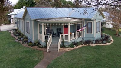 Photo for Fredericksburg Getaway - Walking Distance from Main Street with Relaxing Hot Tub
