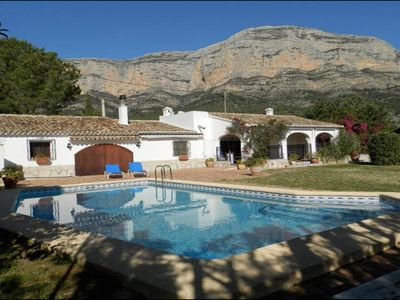 Photo for Rustic Villa with Montgo backdrop and private pool in secluded garden
