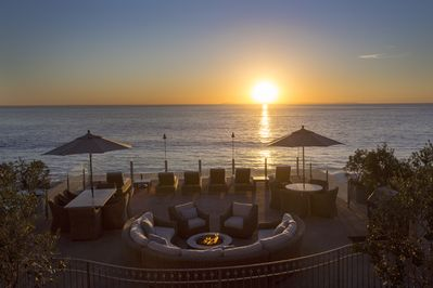 Sunset on the Deck - Our newly remodeled common area deck with a beautiful Laguna Beach sunset as a backdrop