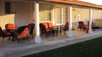 Patio, Barbeque, Dining, Swim Spa, and Lounge Area