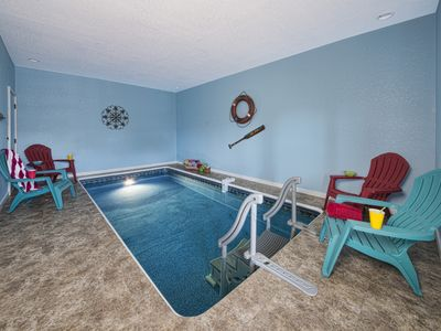 Photo for GORGEOUS VIEWS WITH PRIVATE INDOOR POOL AND HOT TUB!