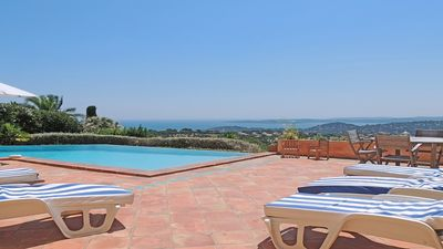 Photo for Villa 10 people - Private pool - Sea view - Wifi - Air conditioning - Sainte Maxime