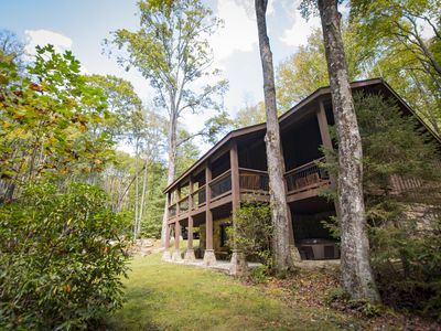 Photo for Private Waterfall Lodge on 450 Acre Exclusive Retreat with Hiking Trails & WiFI