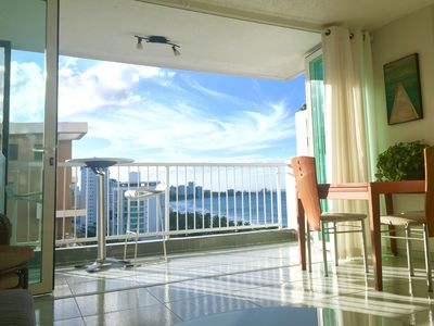 Photo for 1Br + living room 821 Sqft  with Ocean View - Direct Beach Access - WiFi - Piano