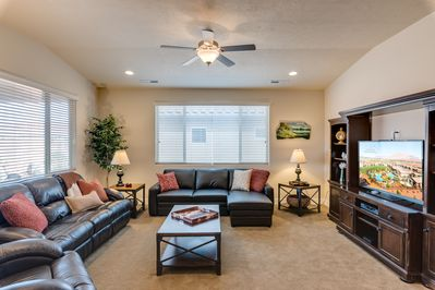 Living Room - - Optional queen size sofa sleeper available