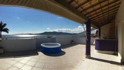 Photo for Full floor covering - 180m2 - view to the Lagoon.