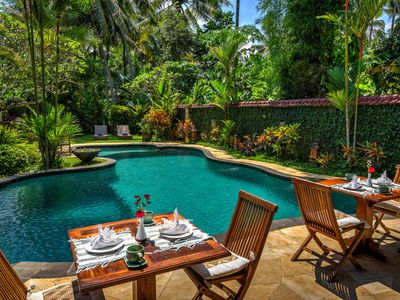 Photo for 4 BR Villa with Pool & Garden View - Breakfast in Ubud