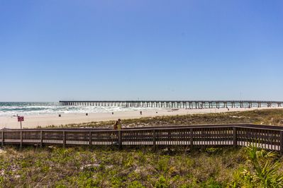 Direct access to the beach.