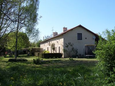 Photo for Large 1850's Charentais farmhouse with swimming pool 400 metres from Monkey Park