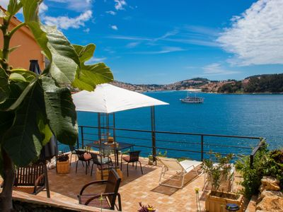 Photo for secluded house with amazing terraces  overlooking the bay of Dubrovnik