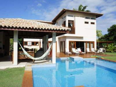 Photo for Luxury beach house with pool, terrace and views of the lake and waterfront.