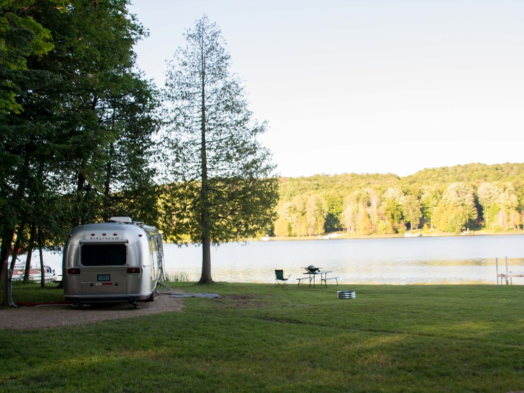 Lakefront Airstream on Beautiful Six Mile Lake @ Silver ...