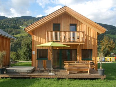 Photo for Detached luxury chalet with wellness space and outdoor jacuzzi near the slopes