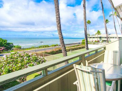 Photo for Tropical Condo w/ Ocean View Lanai, Close to Beach- Shared Pool, Jacuzzi, Tennis Court