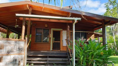 Photo for Absolute Beachfront Holiday Cottage with Private Saltwater Pool on Savusavu Bay