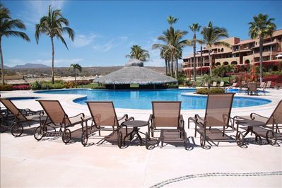 There are several pools on the property, this is the closest pool to the condo.
