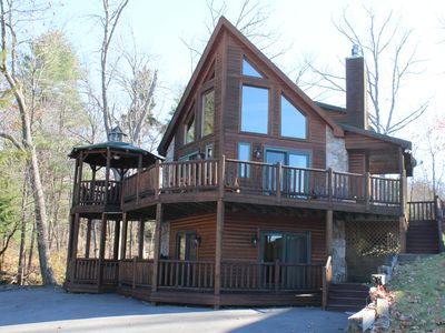 Photo for Lovin Life Deep Creek 5 STAR -5 Bedroom Luxury Log Home w/ Pool Table & Hot Tub