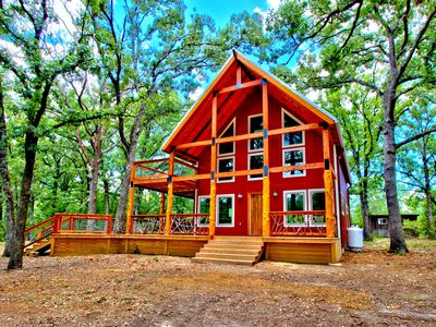 Photo for Amazing Cabin on 130 Secluded Acres-Brand new luxury HOT TUB!!!!