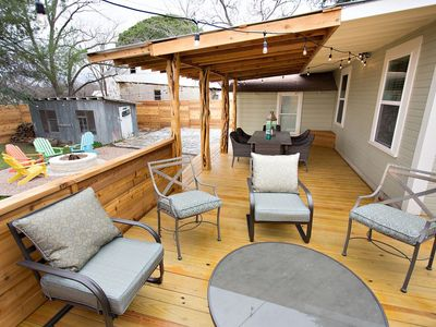 Photo for The Sapphire Door: 1 Block from Main St, Large Patio and Cozy Hammock