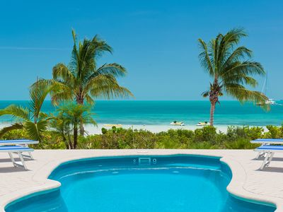Photo for Coconut Beach Villa! - BEACHFRONT/Pool Sapodilla Bay Beach! Two Family Luxury!