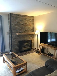New fireplace facade and new carpet throughout summer of 2018