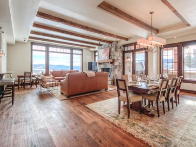 Photo for Upscale suite with ski-in, ski-out access to Big Sky Resort with game room and hot tub
