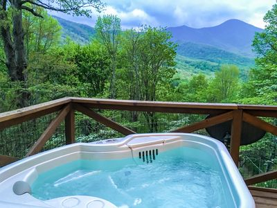 Photo for Nancy's Treetop Mountain Vista~ Romantic~Hot Tub~Cool Hikes~Amazing Views!