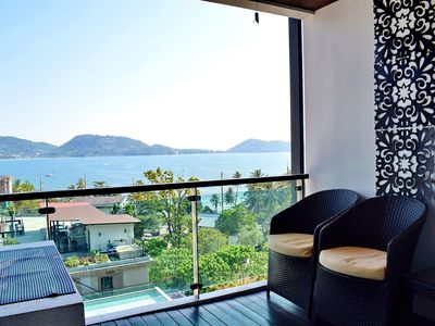 Photo for The Elegant 1 Bedroom Seaview Apartment in Patong