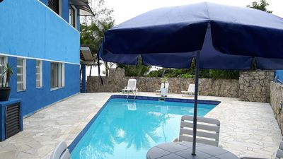 Photo for Home Foot Beach on Sand, pool, barbecue grills, Bertioga - 3 suites
