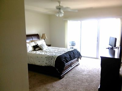 Master BR with Main Lake View/Walkout to Deck