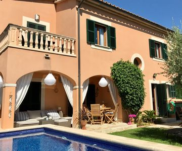 Photo for Lovely 3 bdr villa w aircon & wi-fi, private saltwater pool, 400m to beach