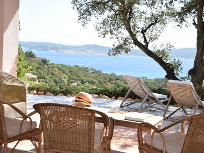 Photo for Spectacular sea view over the bay of Saint Tropez