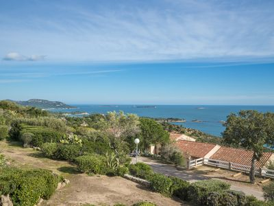 Photo for Villa with pool facing bay Palombaggia / Santa Giulia with stunning sea views