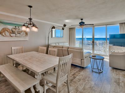 Photo for Comfortable 3 BR/3BA with Beach Service, Soft Beds and Rocker Recliner!