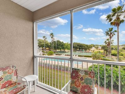 Photo for Comfy condo in golf-course community of Southern Dunes - Lake and pool views