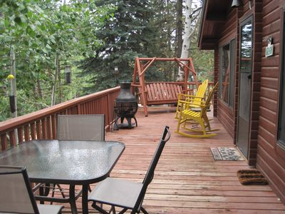 Sit back and relax on the spacious deck, and enjoy the view & the cool breezes