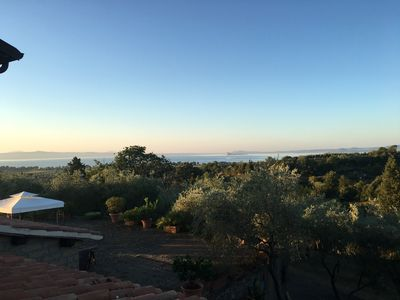 Photo for Private villa with pool overlooking the lake Bolsena