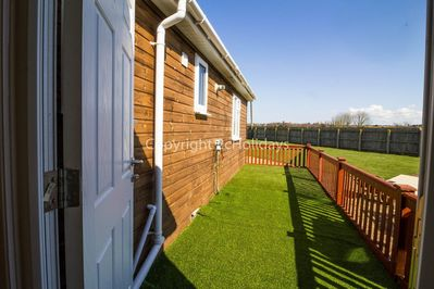 Private accommodation at Lees caravan park in Norfolk