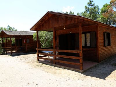 Photo for Camping Porto Corallo. Wooden bungalow 1