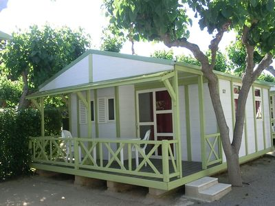 Photo for Bungalow on well equipped camp site near sandy beach