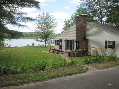Photo for Family-friendly waterfront vacation home on beautiful Lake Winnisquam