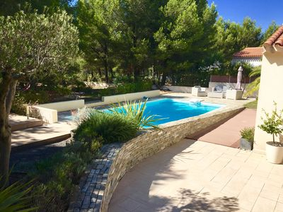 Photo for Superb villa 160m2 large garden swimming pool 5 minutes walk from the sea